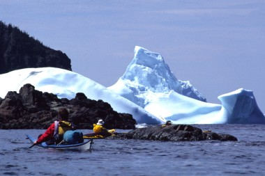 Newfoundland Iceberg and Kayakers