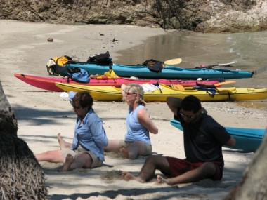 EL ESPIRITU DEL MAR YOGA AND KAYAKING GROUP ON 5-DAY TRIP IN THE GULF OF NICOYA.