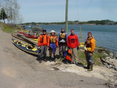 WARMLY DRESSED HAPPY PADDLERS FOLLOWING THURSDAY'S WINDY SPRING PADDLE.