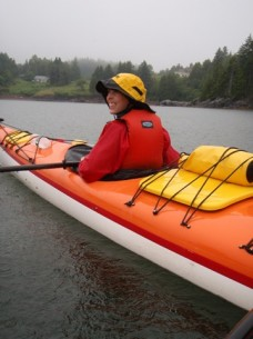 Paddling with a partner in a stable tandem kayak makes for a relaxing trip, even in fog or rain.