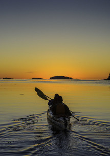 Kayak at Fundy Bay