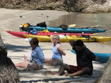EL ESPIRITU DEL MAR YOGA AND KAYAKING GROUP ON 5-DAY TRIP IN THE GULF OF NICOYA.